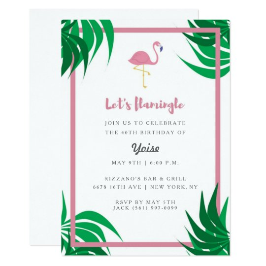 "Tropical Flamingo ""Let's Flamingle"" Birthday Party"