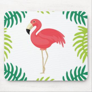 Tropical Flamingo Mouse Pad