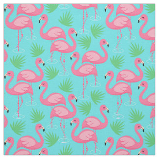 Tropical Flamingo Paradise Whimsical Pink Flamingo Fabric