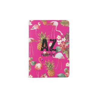 Tropical Flamingo Passport Holder