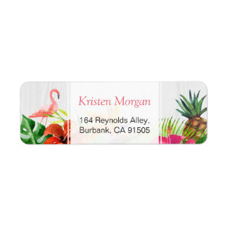Tropical Flamingo Pineapple Floral RSVP