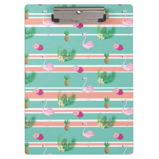Tropical Flamingo Print Clipboard