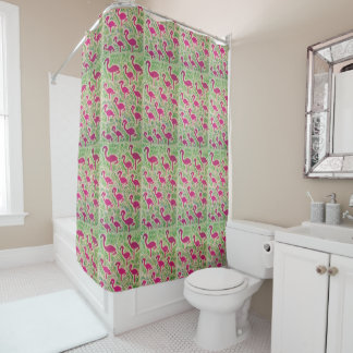 Tropical Flamingo Shower Curtain