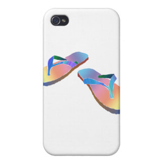 Tropical Flip Flops 2 Case For iPhone 4