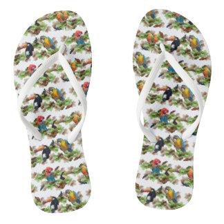 Tropical Flip Flops (Choose Colour)