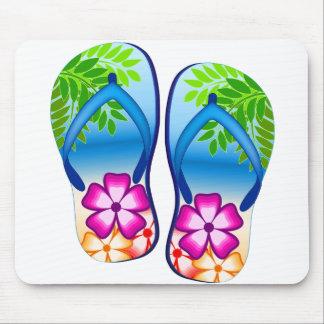 Tropical Flip Flops Mousepad