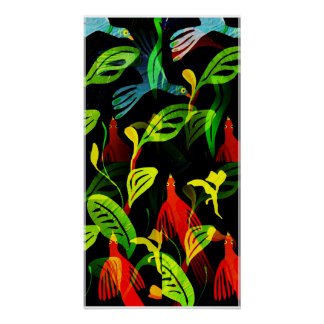 Tropical Flock Poster Print