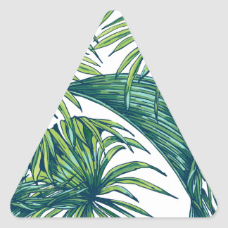 Tropical flora triangle sticker