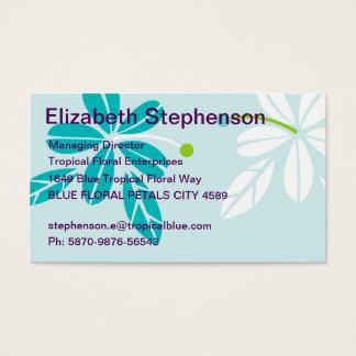 Tropical Floral Blue