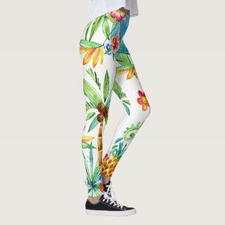 Tropical Floral Exotic 2 Leggings