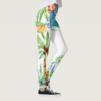 Tropical Floral Exotic Leggings