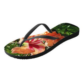 Tropical Floral Expression Flip Flops