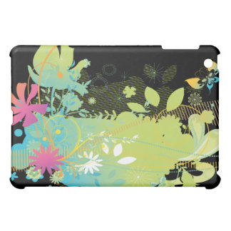 tropical floral funk abstract art cover for the iPad mini