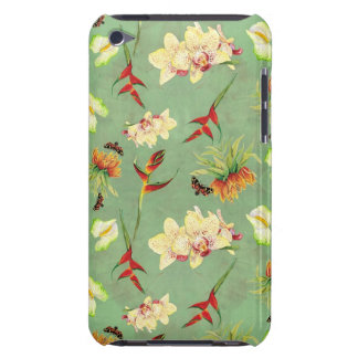 Tropical Floral Orchid Botanical Butterfly Beach Barely There iPod Case