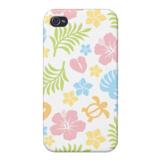 Tropical Floral Pattern 2 Case For The iPhone 4