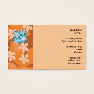 Tropical Floral Pattern. Blue and Orange.