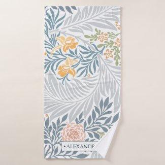 Tropical Floral pattern leaf design Bath Towel Set