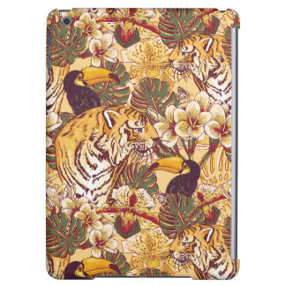 Tropical Floral Pattern With Tiger iPad Air Case
