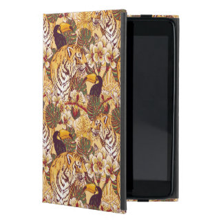 Tropical Floral Pattern With Tiger iPad Mini Case