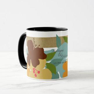 Tropical Floral Retreat Personalised Mug