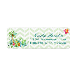 Tropical Floral Return Address