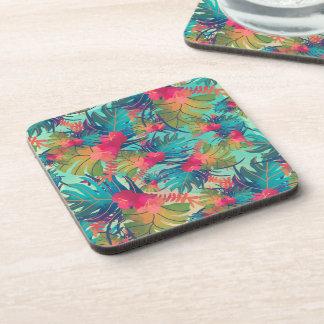 Tropical Floral Watercolor   Coaster
