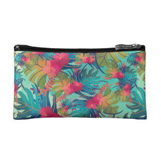Tropical Floral Watercolor | Cosmetic Bag