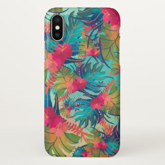 Tropical Floral Watercolor | iPhone X Case