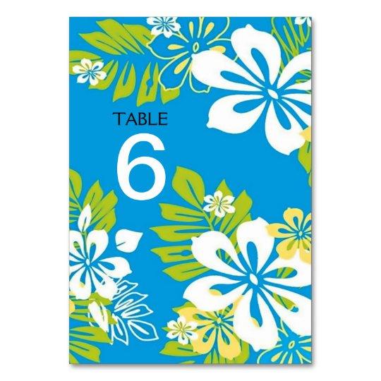 Tropical Floral Wedding Menu+Table Number Card