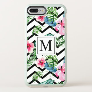 Tropical Floral Wedding Monogram | Phone Case