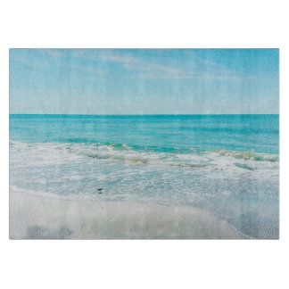 Tropical Florida Beach Sand Ocean Waves Sandpiper Cutting Board