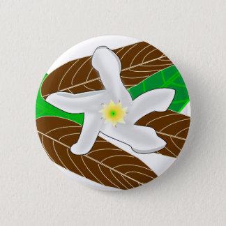 Tropical Flower 6 Cm Round Badge