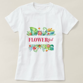 Tropical | Flower Girl Destination Wedding T-Shirt