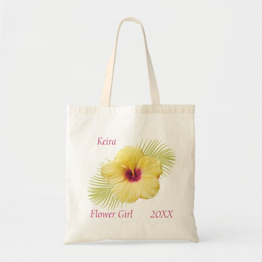 Tropical Flower Girl Personalised Tote