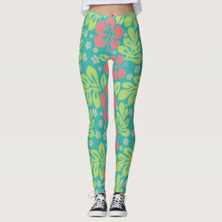 Tropical Flower Leggings