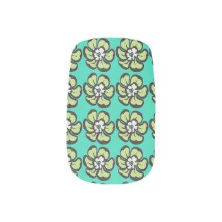 Tropical Flower Minx Nail Art