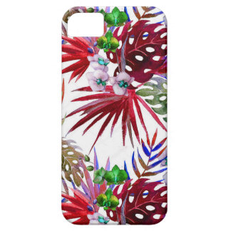 Tropical flower pattern iPhone 5 cases