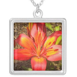 Tropical Flower Pendant Necklace