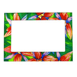 Tropical Flower Photo Frame Photo Frame Magnet