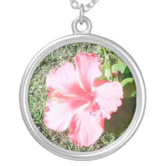 Tropical Flower Silver Plated Necklace