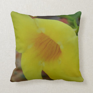 Tropical Flower Throw Pillow - Yellow
