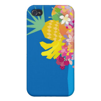 Tropical Flower Waves Cover For iPhone 4