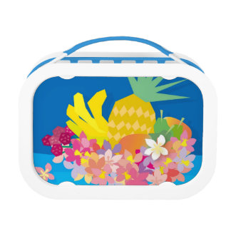 Tropical Flower Waves Lunch Box