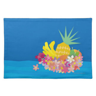 Tropical Flower Waves Placemat