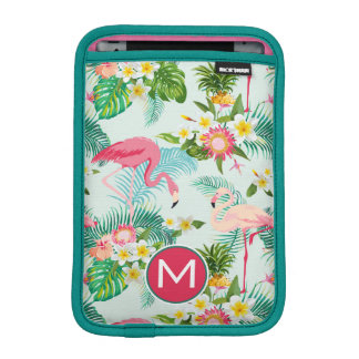 Tropical Flowers And Birds | Add Your Initial iPad Mini Sleeve