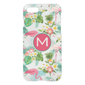 Tropical Flowers And Birds | Add Your Initial iPhone 8/7 Case