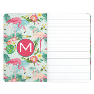 Tropical Flowers And Birds | Add Your Initial Journal