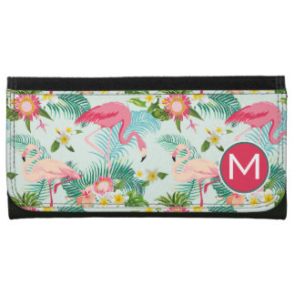 Tropical Flowers And Birds | Add Your Initial Wallets