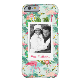 Tropical Flowers And Birds | Add Your Photo & Name Barely There iPhone 6 Case
