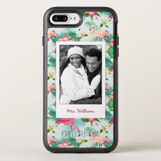 Tropical Flowers And Birds | Add Your Photo & Name OtterBox Symmetry iPhone 7 Plus Case